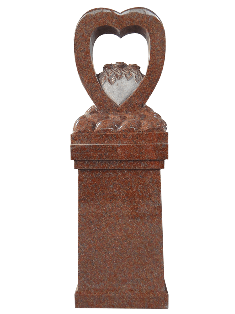 Heart Pedestal – India Red