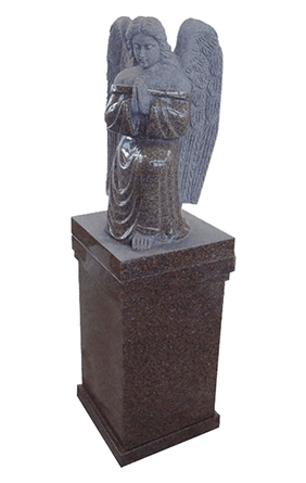 Pedestal With Carved Angel
