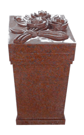 Pedestal With Carved Flowers