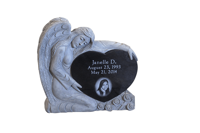 angel holding heart front wellys
