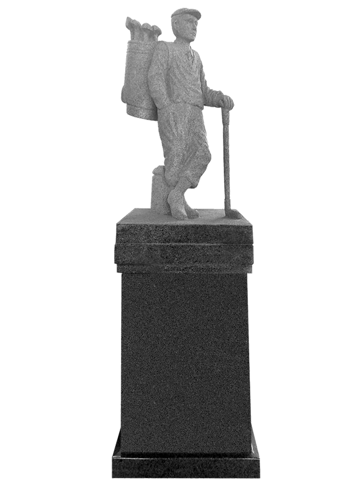 golfer pedestal – dark cloud