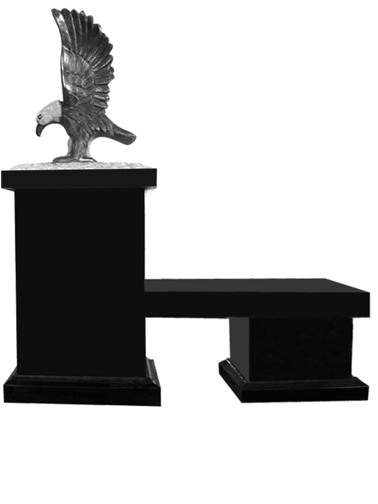 pedestal with bench and eagle