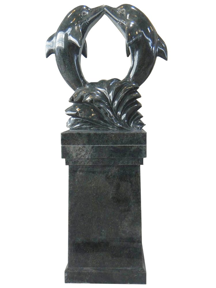 dolphin pedestal – tropical green